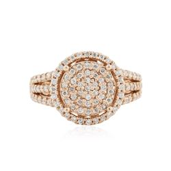 14KT Rose Gold 0.72 ctw Diamond Ring