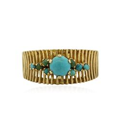 18KT Yellow Gold 1.00 ctw Turquoise Ring