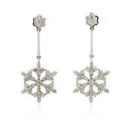 14KT White Gold 2.20 ctw Diamond Earrings