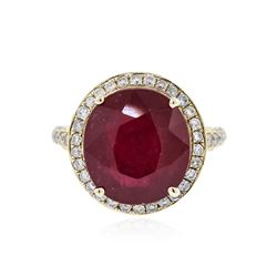 14KT Yellow Gold 8.59 ctw Ruby and Diamond Ring