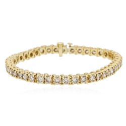 14KT Yellow Gold 6.90 ctw Diamond Bracelet