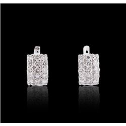 14KT White Gold 2.41 ctw Diamond Earrings
