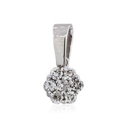 14KT White Gold 0.20 ctw Diamond Pendant