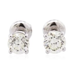 14KT White Gold 1.25 ctw Diamond Solitaire Earrings