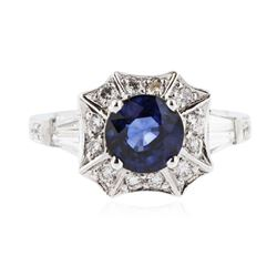 14KT White Gold 1.84 ctw Sapphire and Diamond Ring