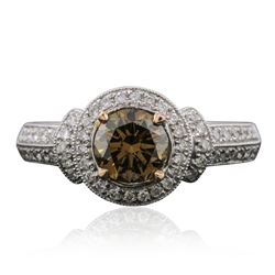 14KT Two-Tone Gold 1.30 ctw Diamond Ring