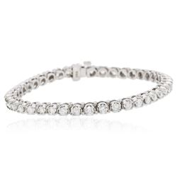 14KT White Gold 4.40 ctw Diamond Tennis  Bracelet