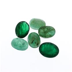 8.41 cts. Oval Cut Natural Emerald Parcel