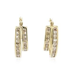 14KT Yellow Gold 1.83 ctw Diamond Earrings