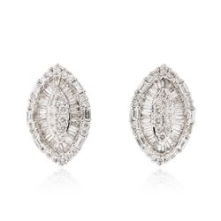 18KT White Gold 1.79 ctw Diamond Earrings