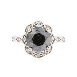 14KT White Gold 3.68 ctw Black Diamond Ring