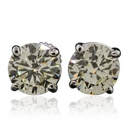 14KT White Gold 4.37 ctw Diamond Stud Earrings