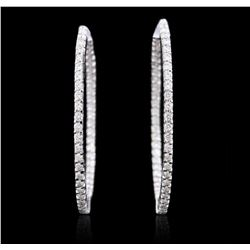14KT White Gold 2.17 ctw Diamond Earrings