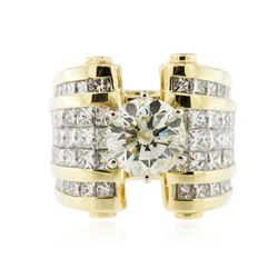 18KT Yellow Gold 8.81 ctw Diamond Ring