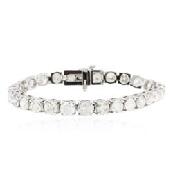14KT White Gold 15.06 ctw Diamond Tennis Bracelet