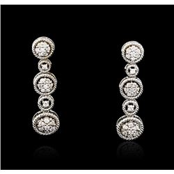 14KT White Gold 0.57 ctw Diamond Earrings