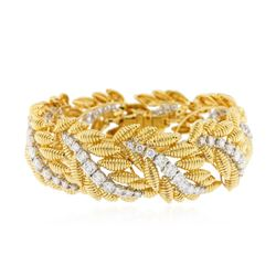 18KT Yellow and White Gold 8.91 ctw Diamond Bracelet
