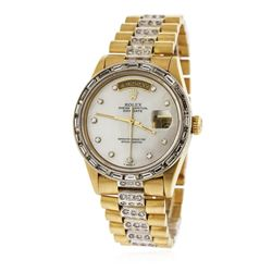 Gents Rolex 18KT Yellow Gold 4.20 ctw Diamond DayDate Wristwatch