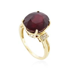 14KT Yellow Gold 10.87 ctw Ruby and Diamond Ring