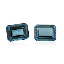60.23 ctw. Natural Emerald Cut Blue Topaz Parcel