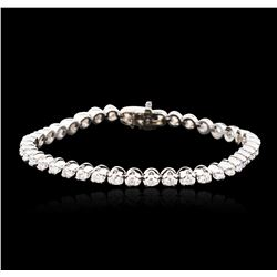 14KT White Gold 4.05 ctw Diamond Tennis Bracelet