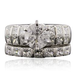 18KT White Gold 5.20 ctw Diamond Ring