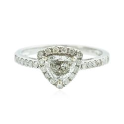 14KT White Gold 0.88 ctw Diamond Ring