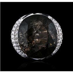 14KT White Gold 56.17 ctw Tourmaline and Diamond Ring