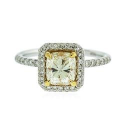 14KT White Gold 1.53 ctw SI-1/U-V GIA Cert Diamond Ring