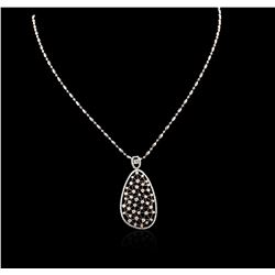 14KT Two-Tone Gold 1.61 ctw Diamond Pendant With Chain