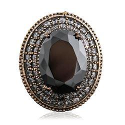 Silver 16.44 ctw Cubic Zirconia Ring