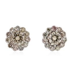 14KT White Gold 2.16 ctw Diamond Earrings