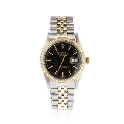 Gents Rolex Two-Tone 1.04 ctw Diamond DateJust Wristwatch
