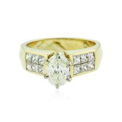 18KT Yellow Gold 1.29 ctw Diamond Ring