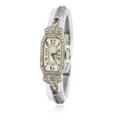 Ladies Vintage Glycine Diamond Wristwatch
