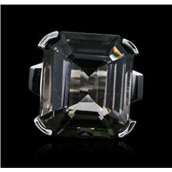 14KT White Gold 25.26 ctw Tourmaline Ring