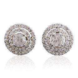 14KT White Gold 2.58 ctw Diamond Earrings