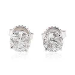14KT White Gold 1.98 ctw Diamond Stud Earrings