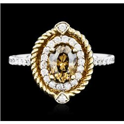 14KT Two-Tone Gold 1.07 ctw Diamond Ring