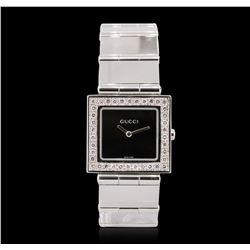 Unisex Stainless Steel Diamond Gucci Wristwatch