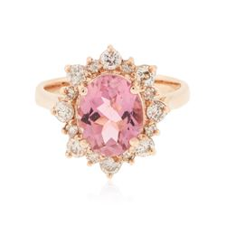 14KT Rose Gold 2.51 ctw Tourmaline and Diamond Ring