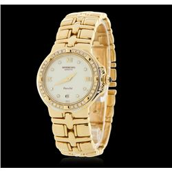 Raymond Weil Parisfal 18KT Yellow Gold Diamond Wristwatch