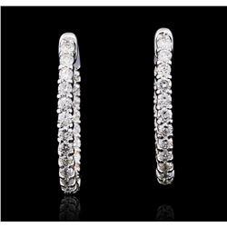 14KT White Gold 2.51 ctw Diamond Earrings