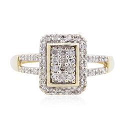 10KT Two-Tone Gold 0.50 ctw Diamond Ring