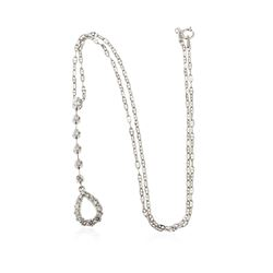 18KT White Gold 0.65 ctw Diamond Pendant With Chain