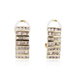 10KT Yellow Gold 0.75 ctw Diamond Earrings