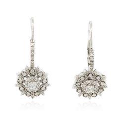 14KT White Gold 1.04 ctw Diamond Earrings