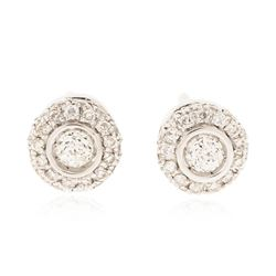 14KT White Gold 0.52 ctw Diamond Earrings