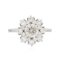 14KT White Gold 1.69 ctw Diamond Ring