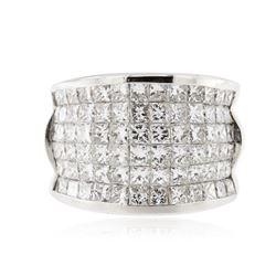 18KT White Gold 4.55 ctw Diamond Ring